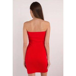 Tobi Dresses - Red Strapless Sweetheart Cutout Bodycon Dress